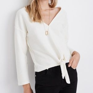 NEW Madewell Texture And Thread 2X Tie Front Top